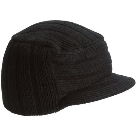 Auclair Logo Sargent Beanie Hat - Brim (For Men) in Black