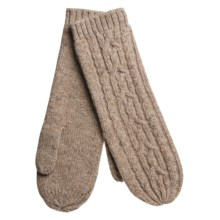 Auclair Long Cable-Knit Mittens - Merino Wool (For Women) in Fawn - Closeouts