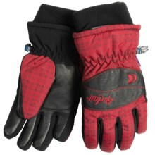 Auclair Love the Rose Gloves - Waterproof, Insulated (For Women) in Black/Red - Closeouts
