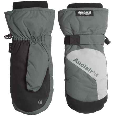 Auclair Low Orbit 3 Mittens - Waterproof, Insulated (For Men) in Dark Grey/Light Grey - Closeouts