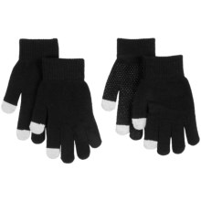 Auclair Magic Texting Gloves - 2-Pair (For Youth) in Black - Closeouts