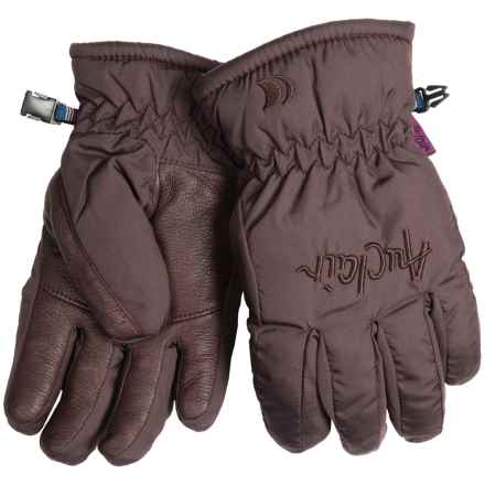 Auclair Micro Mountain Gloves - Fleece Lining, Insulated (For Women) in Dark Brown - Closeouts