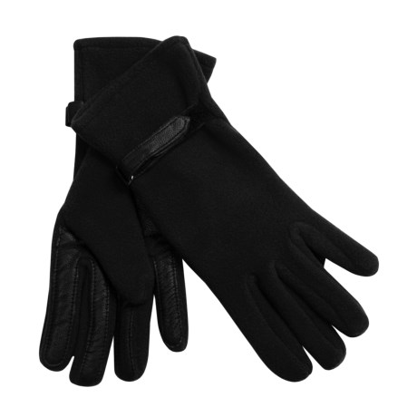 Auclair Microfleece Gloves (For Women) in Black