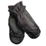 Auclair Moccasin Finger Sheepskin Gloves-Mittens - Polyfleece Lining (For Women)