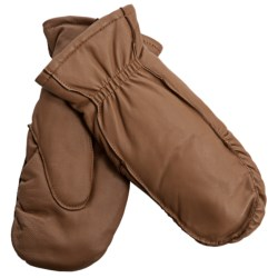 Auclair Moccasin Finger Sheepskin Gloves-Mittens - Polyfleece Lining (For Women) in Pecan