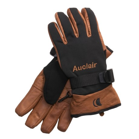 Auclair Mountain Worker Sheepskin Gloves - Insulated (For Men) in Black/Brown