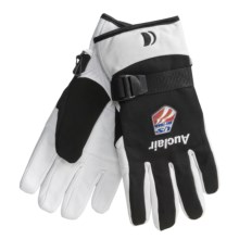 Auclair Mountain Worker Sheepskin Gloves - Insulated (For Men) in Black/White - Closeouts