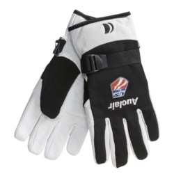 Auclair Mountain Worker Sheepskin Gloves - Insulated (For Men) in Black/White