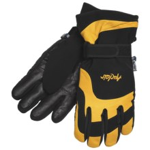 Auclair New Wave Gloves - Waterproof, Insulated (For Men) in Black/Gold - Closeouts