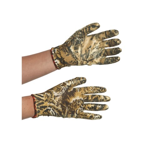 Auclair Nitrile Garden Gloves - Printed (For Women) in Black/Brown