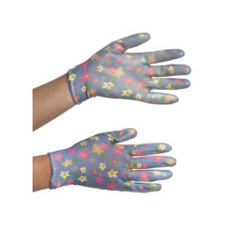 Auclair Nitrile Garden Gloves - Printed (For Women) in Cinderella Rose