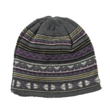 Auclair Nordic Beanie Hat - Wool (For Men) in Grey/Port/Black - Closeouts