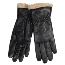 Auclair Paris Leather Gloves - Insulated, Fleece Lined (For Women) in Black - Closeouts