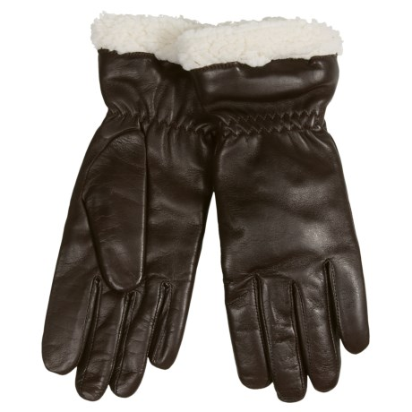 Auclair Paris Leather Gloves - Insulated, Fleece Lined (For Women)