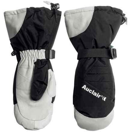 Auclair Powder Country 2 Ski Mittens - Waterproof, Insulated (For Men) in Black/White - Closeouts
