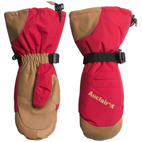 Auclair Powder Country 2 Ski Mittens - Waterproof, Insulated (For Men) in Burnt Red/Palomino