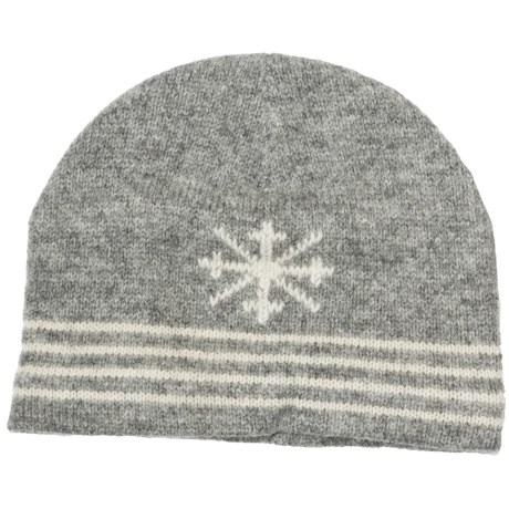Auclair Ragg Skipole Beanie Hat - Lambswool, Fleece Lining (For Men and Women) in Red/White