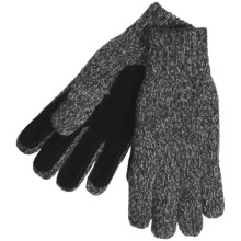 Auclair Ragg Wool Blend Gloves - Pig Suede Palm (For Men) in Grey - Closeouts