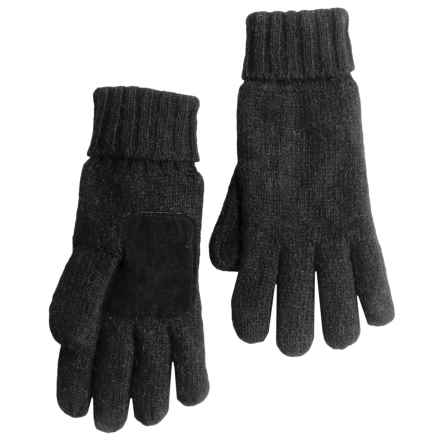 Auclair Ragg Wool Gloves - Melange Fleece Lined (For Men) in Black - Closeouts