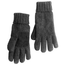 Auclair Ragg Wool Gloves - Melange Fleece Lined (For Men) in Charcoal - Closeouts