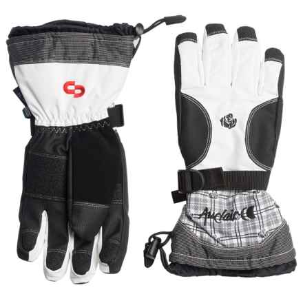 Auclair Rose Ryder Gloves - Insulated (For Women) in White/Black - Closeouts