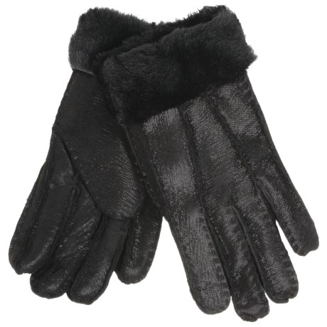 Auclair Shearling Gloves (For Women) in Black