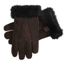 Auclair Shearling Gloves (For Women) in Dark Brown Print - Closeouts