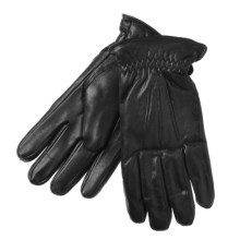 Auclair Sheepskin Gloves- Lining, Precurved Cut (For Men) in Black - Closeouts