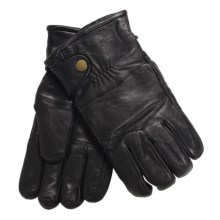 Auclair Sheepskin Gloves - Pile Lining (For Men) in Black - Closeouts