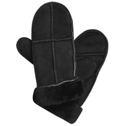 Auclair Sheepskin Mittens (For Women) in Black