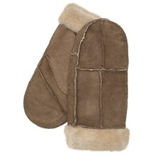 Auclair Sheepskin Mittens (For Women) in Caramel - Closeouts