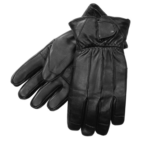 Auclair Sheepskin Wrist-Tab Gloves - Thinsulate® (For Men) in Black