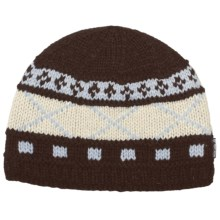 Auclair Six X Beanie Hat - Wool Blend (For Women) in Dark Brown - Closeouts
