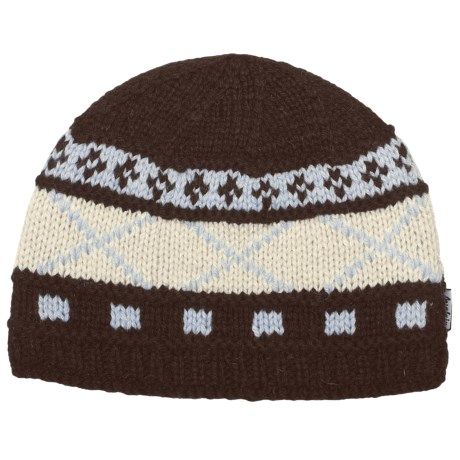Auclair Six X Beanie Hat - Wool Blend (For Women) in Dark Brown