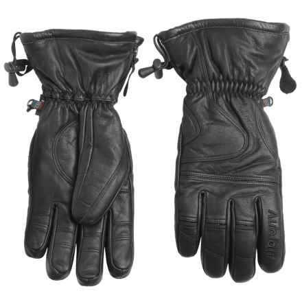 Auclair Smile Man Gloves - Waterproof, Insulated (For Men) in Black/Black - Closeouts