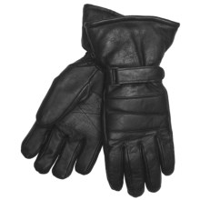 Auclair Snowmobile Gloves -  Goatskin, Insulated (For Men) in Black - Closeouts