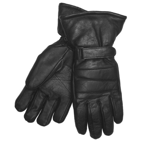 Auclair Snowmobile Gloves -  Goatskin, Insulated (For Men) in Black
