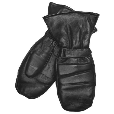 Auclair Snowmobile Mittens - Goatskin, Insulated (For Men) in Black