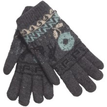 Auclair Soft Touch Gloves - Wool-Angora (For Women) in Charcoal/Vanilla/Aqua - Closeouts