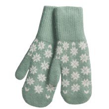 Auclair Soft Touch Mittens - Wool-Angora (For Women) in Aqua - Closeouts
