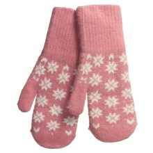 Auclair Soft Touch Mittens - Wool-Angora (For Women) in Pink - Closeouts