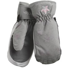 Auclair Swirls & Flowers Mittens - Waterproof, Insulated (For Women) in Grey/White/Pink - Closeouts