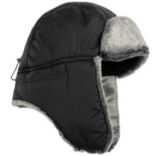 Auclair Taslan Aviator Hat - Faux-Fur Lining (For Men and Women) in Black - Closeouts