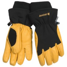 Auclair Total Soft Goatskin Gloves - Insulated (For Men and Women) in Black/Gold - Closeouts