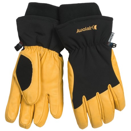Auclair Total Soft Goatskin Gloves - Insulated (For Men and Women) in Black/Gold