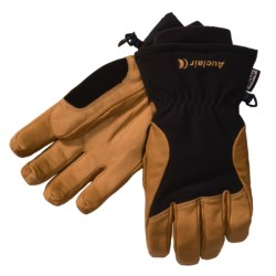 Auclair Total Soft Goatskin Gloves - Insulated (For Men and Women) in Camel