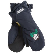 Auclair Tots Kodiak Mittens (For Toddlers) in Navy/Monkey - Closeouts