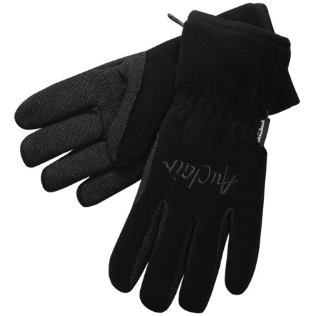 Auclair Wind Block Fleece Gloves (For Men) in Black