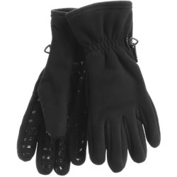 Auclair Windblock Gripper Fleece Gloves (For Men) in Black