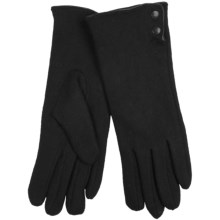Auclair Wool-Angora Gloves (For Women) in Black - Closeouts